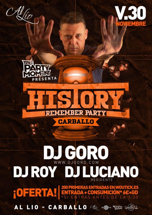 History Remember Party Al Lío Carballo