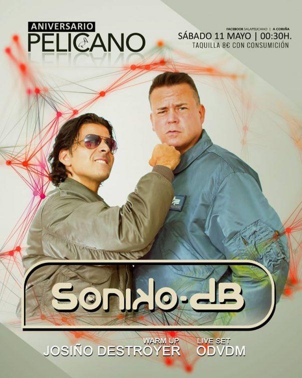 Soniko-dB en el Aniversario de la Sala Pelícano (A Coruña)